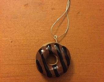 Chocolate Frosted Donut Ornament