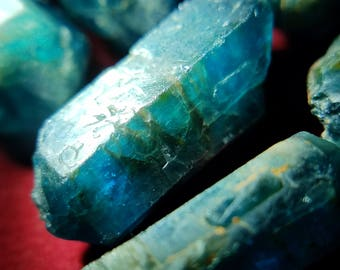 Blue Apatite Gemmy Double Terminated Raw Crystal