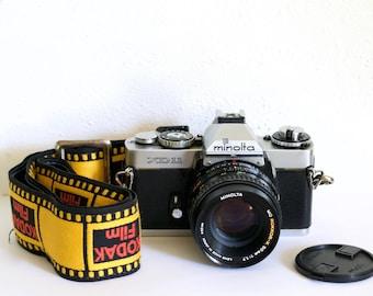 Minolta XD11 35mm Camera; MD ROKKOR 50mm 1.7 lens; Vintage Kodak Film Strap
