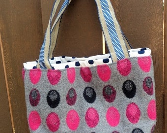 Polka dots! small top handle bag
