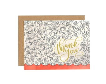 Thank You Flowers // Illustrated Card // 1canoe2