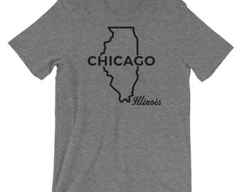Gift For Him- Hometown Shirts- State T-shirts- Chicago T-Shirt- Chicago Shirt- City Tshirt- City Shirt- Where's Home T-shirt