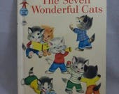 Vintage Tip Top Elf Book The Seven Wonderful Cats retold by Wallace C. Wadsworth