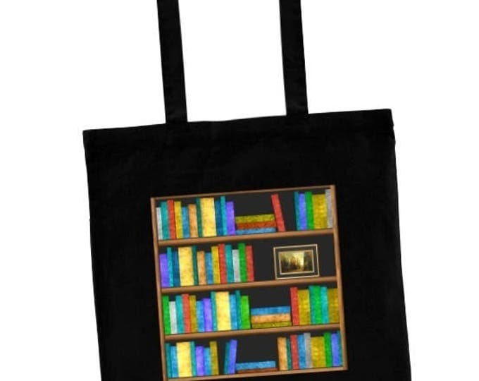 Book Lovers Tote Bag, Bookshelf Tote, Perfect for Library Books