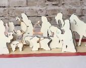 Christmas decor, Nativity scene, Christmas gift, Manger scene, rustic nativity, wood nativity, 10 piece handmade nativity set, mantle decor