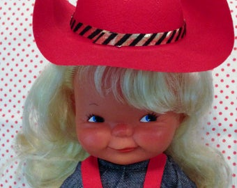 Vintage Goebel Charlot BYJ 2901 CowGirl Doll West Germany 1965 Mint Complete