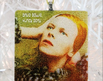 David Bowie - Hunky Dory Album Cover Glass Ornament