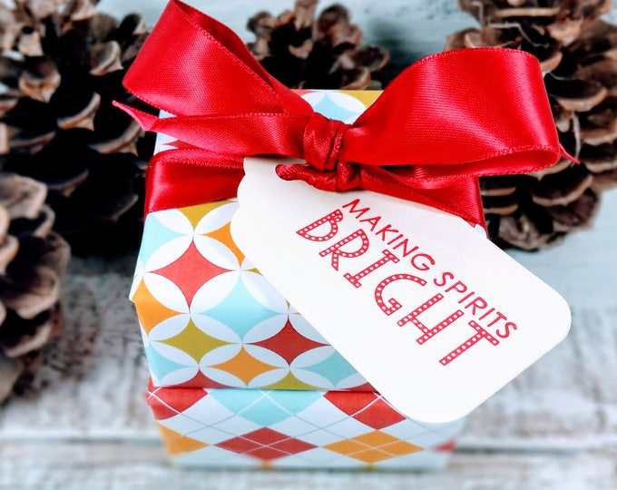 Retro Wrapped Making Spirits Bright Soap Gift