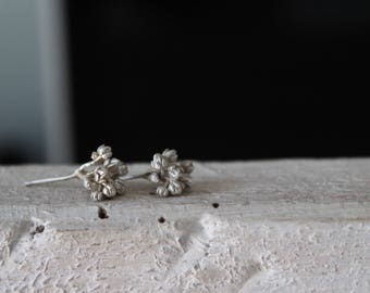 On sale today Succulent studs -Floral bouquet earrings -Tiny studs earrings -Sterling silver stud-Flower post earrings -Gift for her-