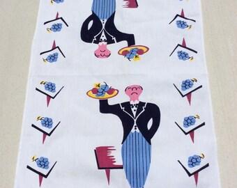 Vintage Towel Snooty Butler Brings You Fruit