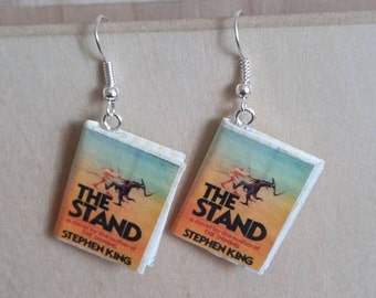 The Stand Mini Book Earrings - Stephen King - The Stand Jewelry - The Stand Book Earrings - The Stand Book Earrings - Stephen King Jewelry