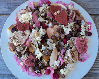 Be My Valentine Country Potpourri, Heart Potpourri, Valentine Potpourri, Spring Potpourri, Saltdough Potpourri, Room Scent, Room Fragrance