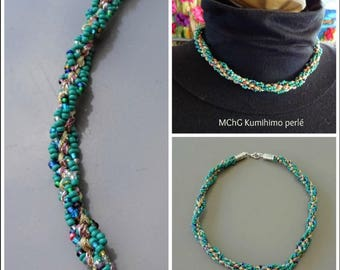 Lagune: kumihimo necklace