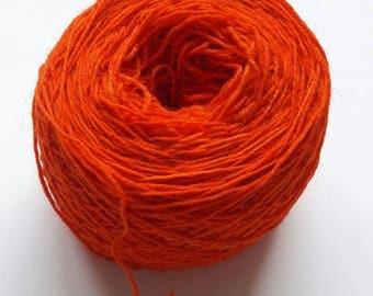 Hand Dyed Orange Sock Yarn