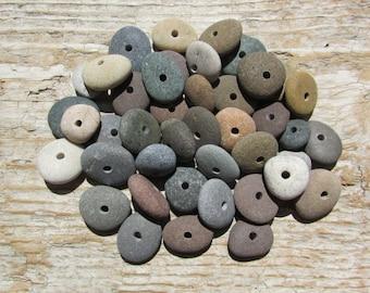DRILLED STONE BEADS Natural Stone Beads Lake Stone Beads Drilled Stone Supply 2mm