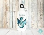 Personalized Kids Water Bottle Kids Drink Bottle Unicorn Dragon, Water Bottle Personalized Dragon, Furry Dragon Gift, Fantasy Dragon, 20 oz