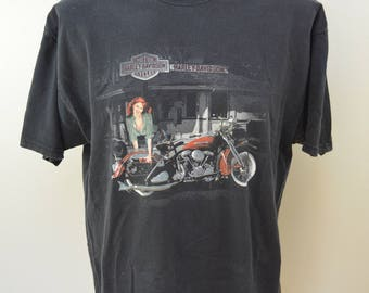 Vintage HARLEY DAVIDSON Sheboygan Wisconsin t-shirt 1990's XL made in usa