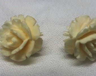 20% OFF Vintage Carved Roses Earrings 1/20th 12 Karat Gold Filled #B803
