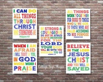 Kids Scriptures, Sunday School Art, Kids Scripture Art, DIGITAL, YOU PRINT, Kids Bible Verse Art, Sunday School Art, Christian Wall Art