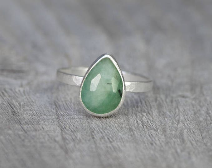 Rose Cut Emerald Ring, 1.75ct Emerald Ring, May Birthstone, Emerald Gift, Handmade In The UK