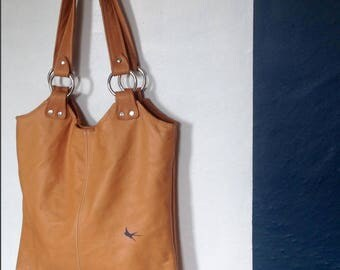 TOTE - leather tote bag - brown leather bag - customizable leather bag - leather handbag - brown leather purse  custom tote - back to school