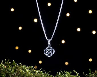 Sterling Silver Tiny Celtic Love Knot - (Charm, Necklace, or Earrings)