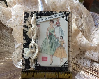 Seamstress Card - Card for Crafter - Card for Quilter - Sewing-themed Card