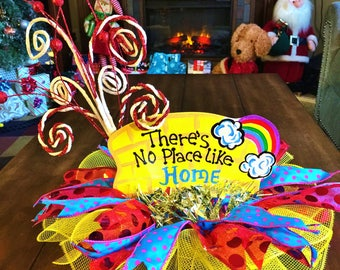 SALE -  There is No Place Like Home Wizard of Oz Centerpiece