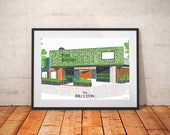 Brixton Pop Print / Brixton Landmarks / Venue Art / London Architecture Print / London Bars / Street Food Print