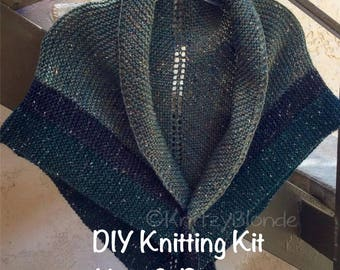 DIY Knitting Kit Claire's Rent Shawl Outlander - Yarn & PDF Pattern