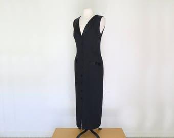 DITA // 80s black tuxedo double breasted dress