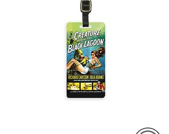 Luggage Creature from the Black Lagoon Poster Art  - Metal Tag with Printed Personalization