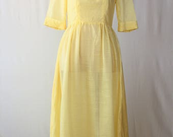 1960s Luscious Lemon Yellow Dress
