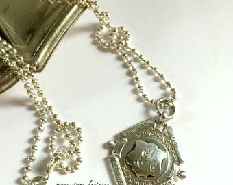 Antique English Sterling Silver Fire Brigade Competition medal