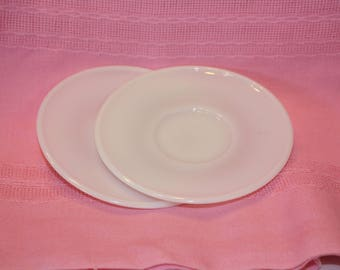 Children's Milk Glass Saucers