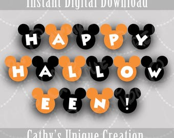 mickey mouse happy halloween banner disney halloween decoration mickeys not so scary halloween party