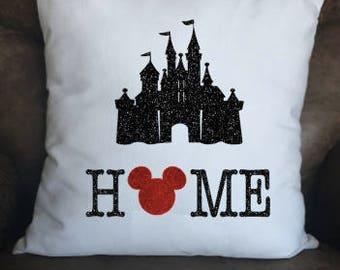 Disney HOME Pillow Case, Throw Pillow Cover, Disney Gift, Disney Fan, Disney Decor, Throw Pillow, Pillow Case, Disney Pillow, Christmas