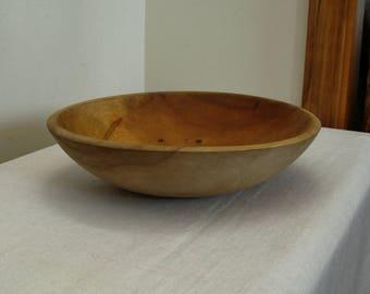 Vintage Munising Wood Dough Bowl