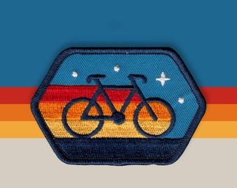 Cyclist Embroidered Patch
