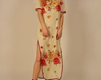 Vintage Floral Traditional Dress