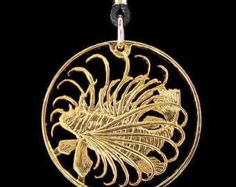 Cut Coin Jewelry - Pendant - Singapore - Lion Fish
