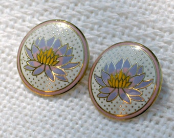 Earrings Laurel Burch Vintage 70s Signed Tahitian Lily Jewelry