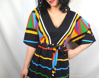 Vintage Rainbow Striped Maxi Dress - By Impressions!