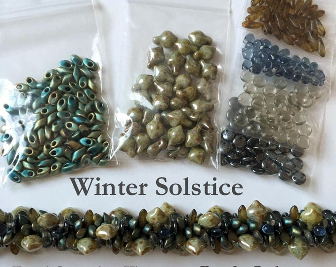 Beads to Create Winter Solstice a Beaded Kumihimo Focal Group, Beads Only