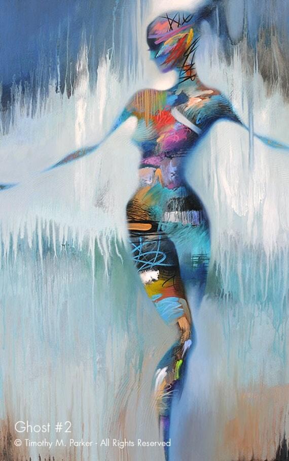Original Nude Art Abstract Female Acrylic Painting Figure