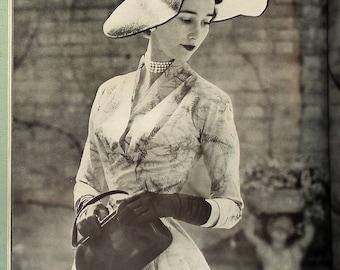 Vintage 1950s Vogue Magazine Coronation Number June 1953 50s UK Edn Fashion Elizabeth II Royalty Cecil Beaton Women's Couture Fashion Hats