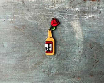 Pukahontas Duff Beer Lapel Pin Pinback Button Barney Gumble Simpsons Bootleg Bart Don't Cry For Me, I'm Already Dead Rose Small Pin Badge