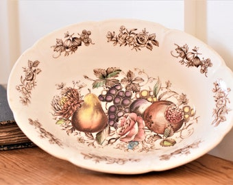 Vintage Transferware Bowl Johnson Brothers WindsorWare Windsor Fruit England