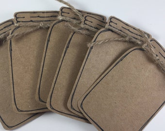 Mason Jar Gift Tags - Set of 6