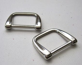 "1"" D Rings High Quality Diecast Nickel Plated - set of 4"